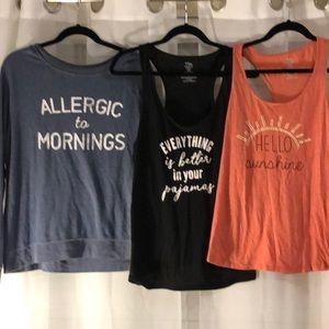 XL sleep shirt bundle